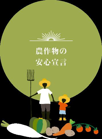農作物の安心宣言